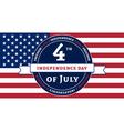 Symbol American Independence Day celebration flag vector image