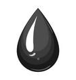 a drop of oiloil single icon in monochrome style vector image