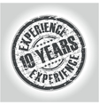 10 years experience vector image vector image