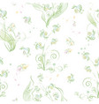 abstract flowers on a white background vector image vector image