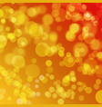 abstract orange background with bokeh effect vector image