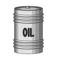 barrel of oiloil single icon in monochrome style vector image vector image