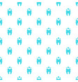 beautiful tooth pattern seamless vector image