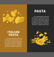 best pasta made of organic ingredients promotional vector image vector image