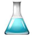 Blue liquid in container vector image vector image