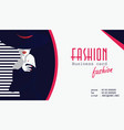 business cards with fashion woman vector image