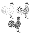 butcher cuts scheme chicken vector image