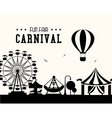 Carnival design over white background