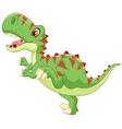 Cartoon Cute tyrannosaurus cartoon vector image vector image