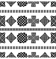 Celtic knot seamless pattern vector image vector image