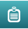 Check list icon Flat design list icon isolated vector image