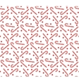 Christmas seamless pattern with candy cane vector image vector image