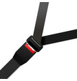 closed black safety belt on white vector image vector image