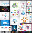 Collection of 20 Infographics with bubbles and vector image vector image