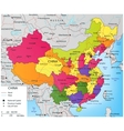 Colorful China political map with selectable vector image