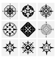 Compass Icons Set vector image vector image