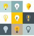Creative light bulb Set of design elements vector image vector image