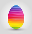 easter egg with full spectrum polygon pattern vector image vector image