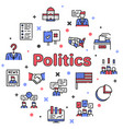 election color linear icons set vector image vector image