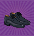 elegant shoes for male pop art cartoon vector image