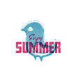 enjoy summer retro sign badge banner template vector image