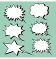 explosion expression comic bubble retro style vector image vector image