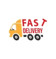Fast Delivery Icon Flat Style vector image vector image
