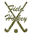 field hockey 05 vector image vector image