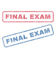 final exam textile stamps vector image vector image