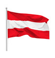 flag republic austria on flagpole vector image vector image