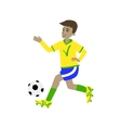 Football Player In Brazilian Colors vector image