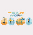 friendly men and women work vector image