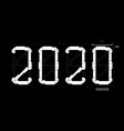 futuristic digits 2020 with interface hud vector image