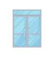 glass door on white background vector image vector image