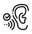 good hearing perception icon outline vector image vector image