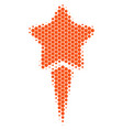 halftone dot starting star icon vector image