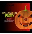 Happy halloween party festival vector image