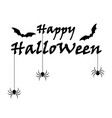 happy halloween text vector image