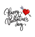 Happy valentines day handwritten lettering black