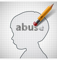 head bawith word abuse vector image
