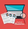 human resources search isolated vector image
