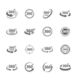 Icons 360 Degree View vector image