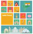 India Decorative Flat Icons vector image