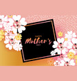 international happy mothers day white floral vector image