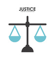 justice design vector image vector image