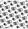 line professional digital camera technology vector image