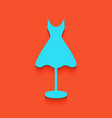 mannequin with dress sign whitish icon on vector image vector image