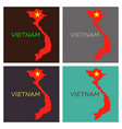 map of vietnam with flag isolated on white vector image vector image