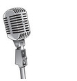 microphone background vector image vector image