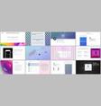 minimal presentations portfolio templates with vector image
